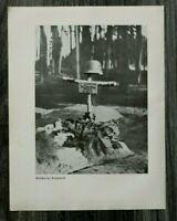 AQ) Blatt 2.WK 1940 Grab mit Namen Deutscher Soldat Krasnobrod Polen Gefangene +