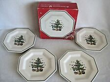 Nikko Christmastime Octagon Salad/Dessert Plate Set Of 4 Japan