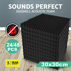 24/48 Acoustic Wall Panel Tiles Studio Sound Proofing Insulation Foam Pads