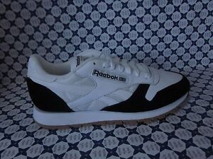 Shoes Reebok CL Leather Spp Gym Casual Vintage White Black AR1894