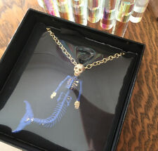Butler and Wilson BLUE Glitter MERMAID SKELETON Chain  Necklace NEW & SEALED!