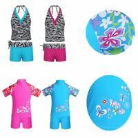 Girls Bikini Halter Swimsuit Swimwear Kids UV Protection Bathing Suit Beachwear
