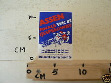 STICKER,DECAL ASSEN IJSSPEEDWAY  FINALE WK 1985 HOLLAND