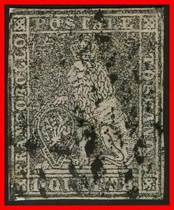 ITALY/TUSCANY 1852 LION SC#1 USED CV$1500.00 (not EXPERTISED) (E-B4)