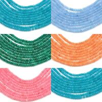 200 pcs Size 2mm Faceted Rondelle Agate Semi-precious Gemstone Spacer Beads