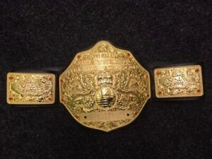 Fandu Big Gold Belt WWE WCW ECW TNA AEW