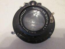 Vintage CARL ZEISS Jena Tessar 1:4.5 16.5cm DRP Large Format Camera Lens
