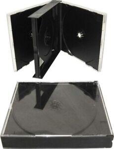 KEYIN Black Quad 4 Disc CD Jewel Case - Premium,  4cd jewel box
