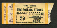 1978 Rolling Stones concert ticket stub Some Girls Tour Rupp Arena Lexington KY