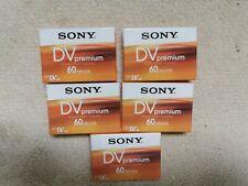 Sony Premium Mini DV Digital Video SP 60/ LP 90 Cassettes New & Sealed x 5 Made