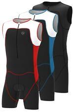 Uomo Triathlon Tri Suit Imbottito Compressione Corsa Nuoto Ciclismo Tuta
