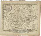 1759 Antique Map of Hertford Shire Divided into its Hundreds