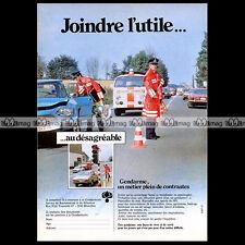 GENDARMERIE BELGE 1980 VW Kombi Combi Van CITROEN Ami 6 - Pub / Ad #A731
