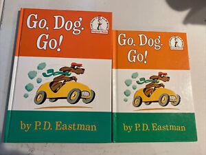 Lot Of 2.  Go , Dog . Go ! by P.D.eastman I CAN READ IT Beginner Books.