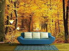 Wall26 - Road in the autumn forest - Canvas Art Wall Decor - 66x96 inches