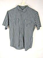 Cabela's Men's Shirt Size X Large Tall Blue Gray Short Sleeve 100% Cotton