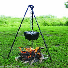 Campfire Cooking Hanger Tripod Grill Dutch Lantern Holder Outdoor Portable Stand