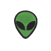 Green Space Alien Patch for Embroidery, Cloth Patches Badge Iron Sew On