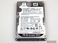 """320GB Wester Digital WD3200BEKT interne 2.5"""" HDD Festplatte SATA 7200rpm 16MB"""