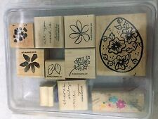 Stampin Up Flower Floral Egg 10 Lot Set Rubber Stamp Craft Scrapbook Tool #DB*