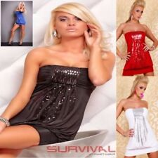Polyester Clubwear Strapless Dresses for Women