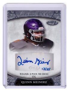 2021 SAGE Aspire Quinn Meinerz Rookie Auto Autograph Silver Broncos Card #D /25