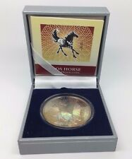 2002 LAOS 15000 KIP SILVER PROOF YEAR OF THE HORSE HOLOGRAPHIC COIN WITH COA