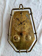 Seltene Wiener Jugendstil Wanduhr Vorderzappler Messing Art Nouveau Clock Vienna