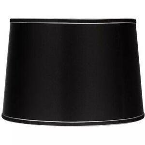 Sydnee Collection Satin Black Drum Shade 14x16x11 (Spider)