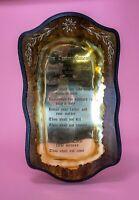 Vintage 10 Commandments Wooden and Brass Plaque