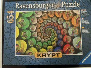 Ravensburger Krypt Colorful Spiral Puzzle, Complete - RARE