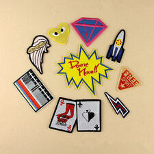 9Pcs Embroidery Poker Sew Iron On Patch Badge Bag Cap Clothes Fabric Applique