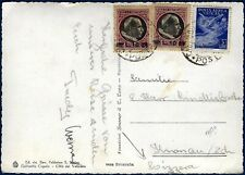 1949 - Cartolina per la Svizzera - Rara affrancatura multipla