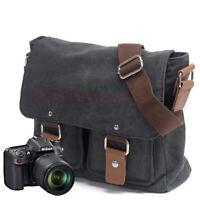 Quality Vintage Canvas DSLR SLR Camera Bag Travel Shoulder Bag for Canon Nikon