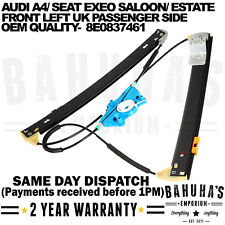 AUDI A4 B6 B7 8E 2000-2008 FRONT LEFT PASSENGER SIDE WINDOW REGULATOR 8E0837461B