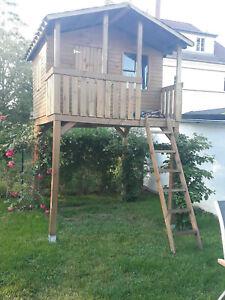 Stelzenhaus, Baumhaus, Spielhaus mit Balkon 1,50 x 2,05 x 1,60 m