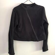 COS Women's Cropped Jacket Black Size M 100% Cotton Excellent Condition