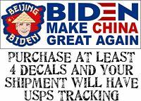 "Beijing Biden Make China Great Again"" Bumper Sticker 8.7"" x 3"" Bumper Sticker"