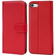Book Case Apple iPhone 5 5S SE Hülle Klapphülle Handy Tasche Flip Cover Rot