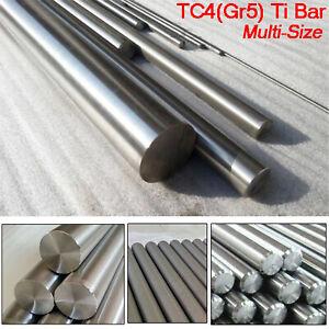 TC4 GR5 Titanium Alloy Rod Ti Round Bar Metal Shaft Stick 100/250/300/400/500mm