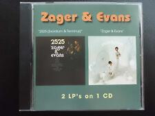 ZAGER  &  EVANS  -  SAME +  2525 ,      2 LP`s on 1  CD  2008     ,   POP, ROCK