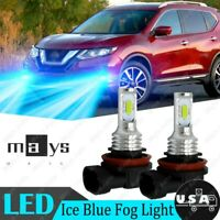 For Nissan Murano Leaf Rogue Pathfinder 2X H11 H8 LED Fog Light 8000K Ice Blue