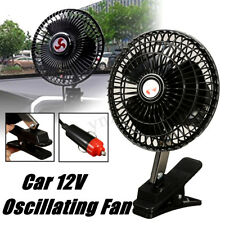 12V DC Car Electric Oscillating Fan Portable Cooling Clip For Vehicle Van Truck