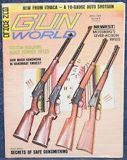 Vintage Magazine GUN WORLD April 1974 ! MOSSBERG Model 472 Lever-Action RIFLE !