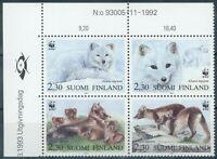 "Finnland 1 linkes Eckrandstück der Mi.-Nr.1202/05** ""Polarfuchs"""