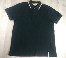 Vintage Burberry London Polo Shirt Black Mens Size Large