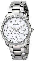 Bulova Women's Maribor Quartz Diamond Accent Markers 36mm Bracelet Watch 96R195