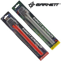 Barnett Slingshot Power Bands Rubber Band Grey or High Power Red Elastic & Pouch