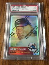 Mickey Mantle 1996 Topps Chrome Refractor w/Coating PSA 9 1953