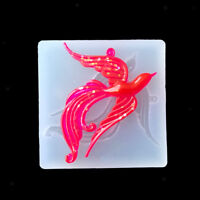Silicone DIY Mold Phoenix with Hole for Resin Pendant Jewelry Making Crafts